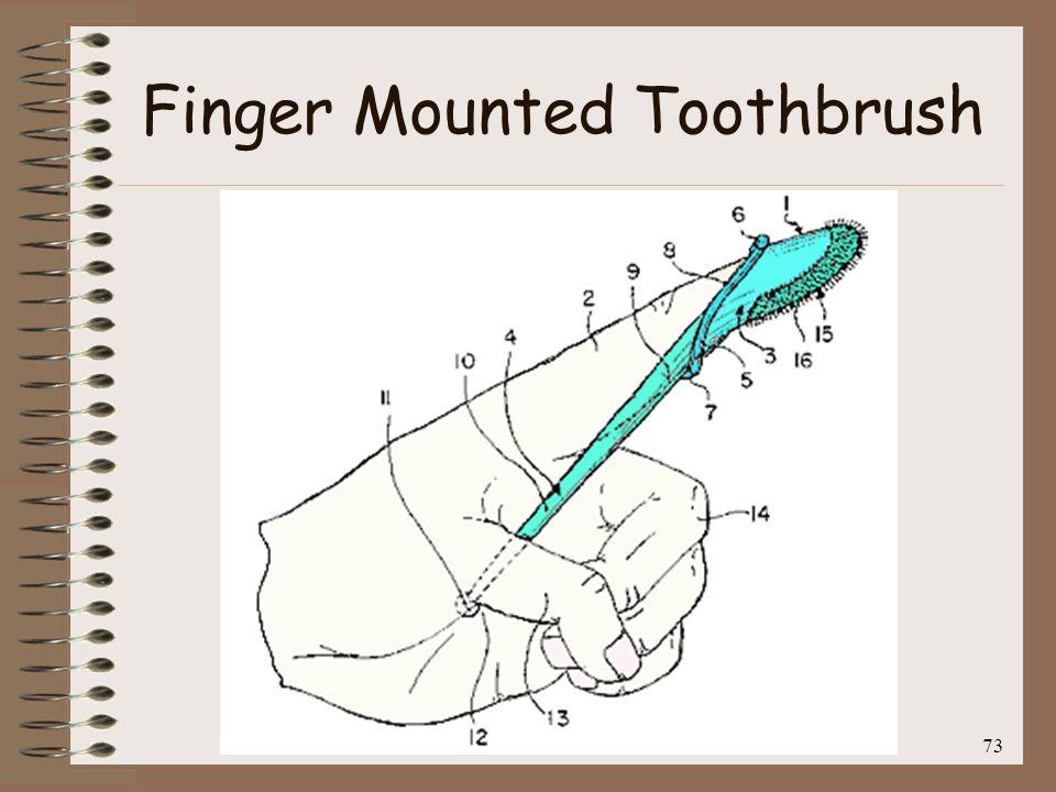 Finger Mounted Toothbrush