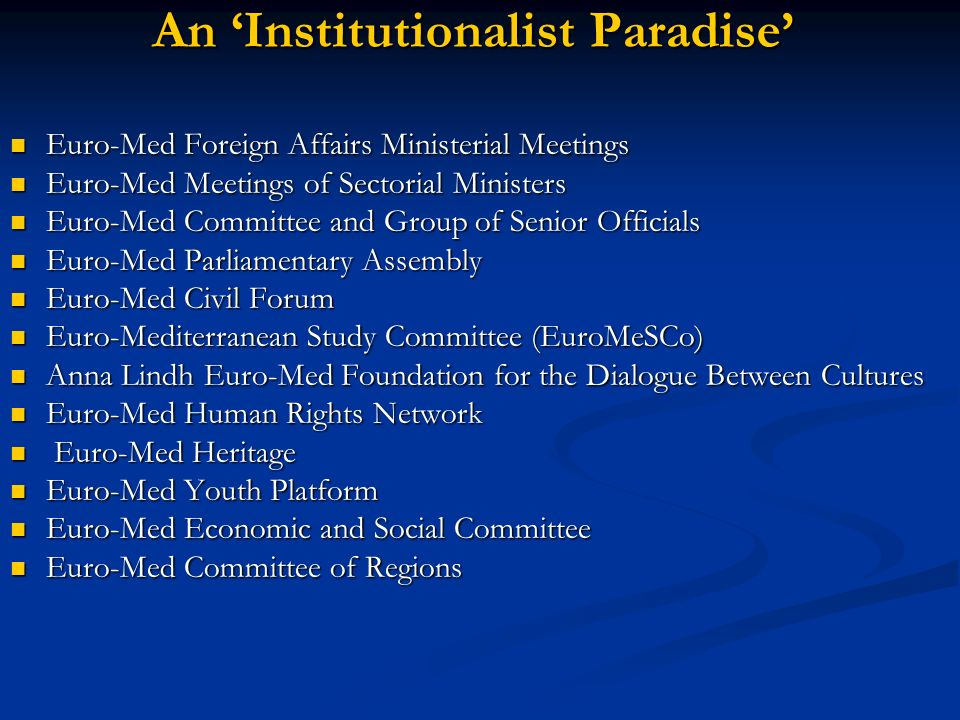 An 'Institutionalist Paradise'