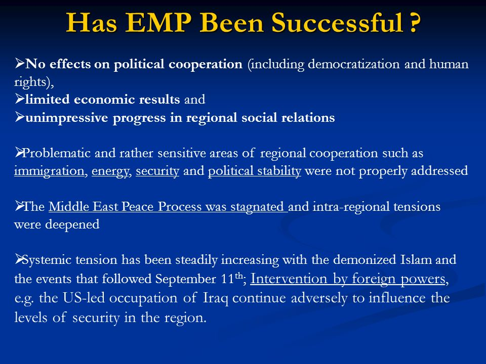 Has EMP Been Successful