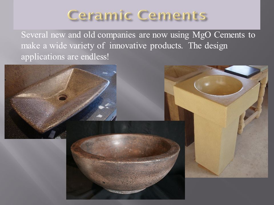 Several new and old companies are now using MgO Cements to make a wide variety of innovative products.