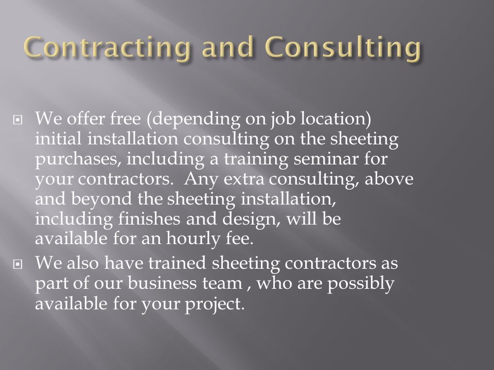 Contracting and Consulting
