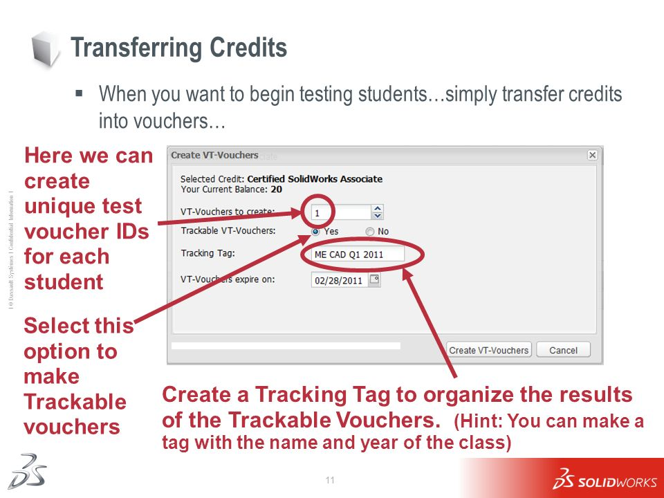 Transferring Credits When you want to begin testing students…simply transfer credits into vouchers…