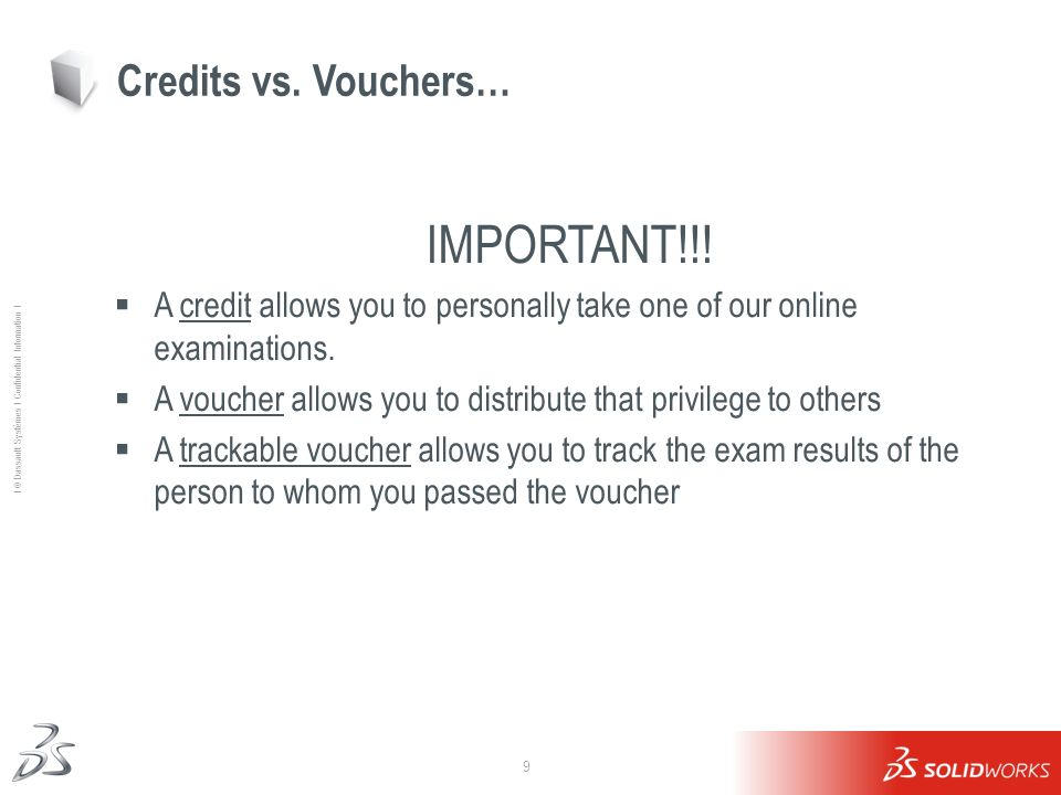 IMPORTANT!!! Credits vs. Vouchers…