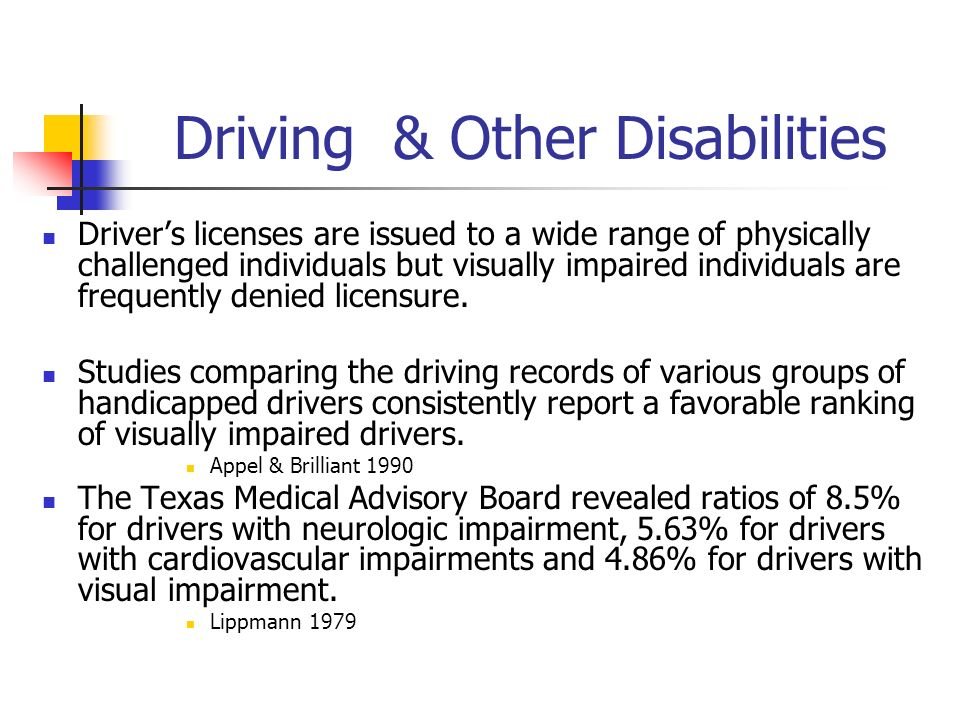Driving & Other Disabilities