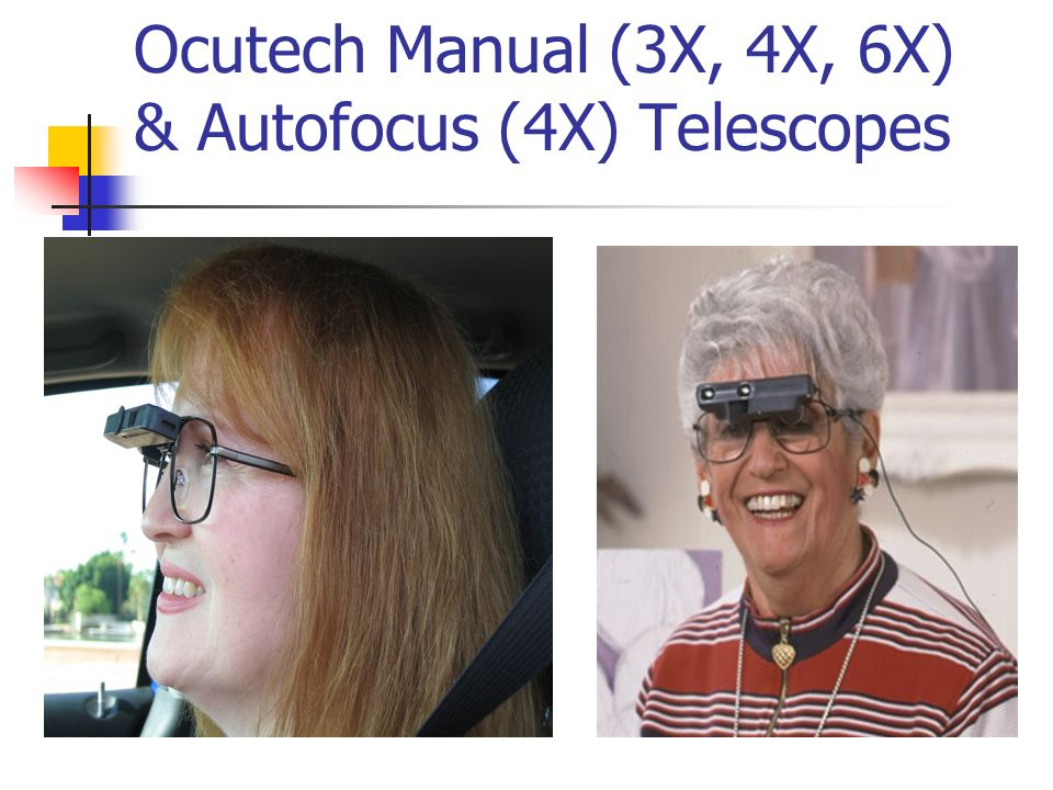 Ocutech Manual (3X, 4X, 6X) & Autofocus (4X) Telescopes