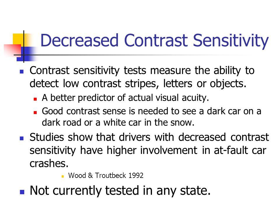 Decreased Contrast Sensitivity