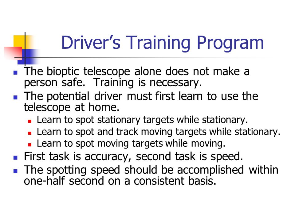 Driver's Training Program
