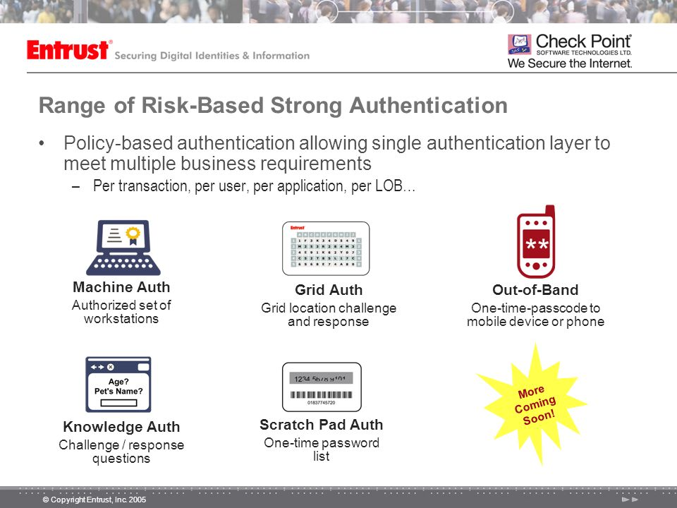 Range of Risk-Based Strong Authentication
