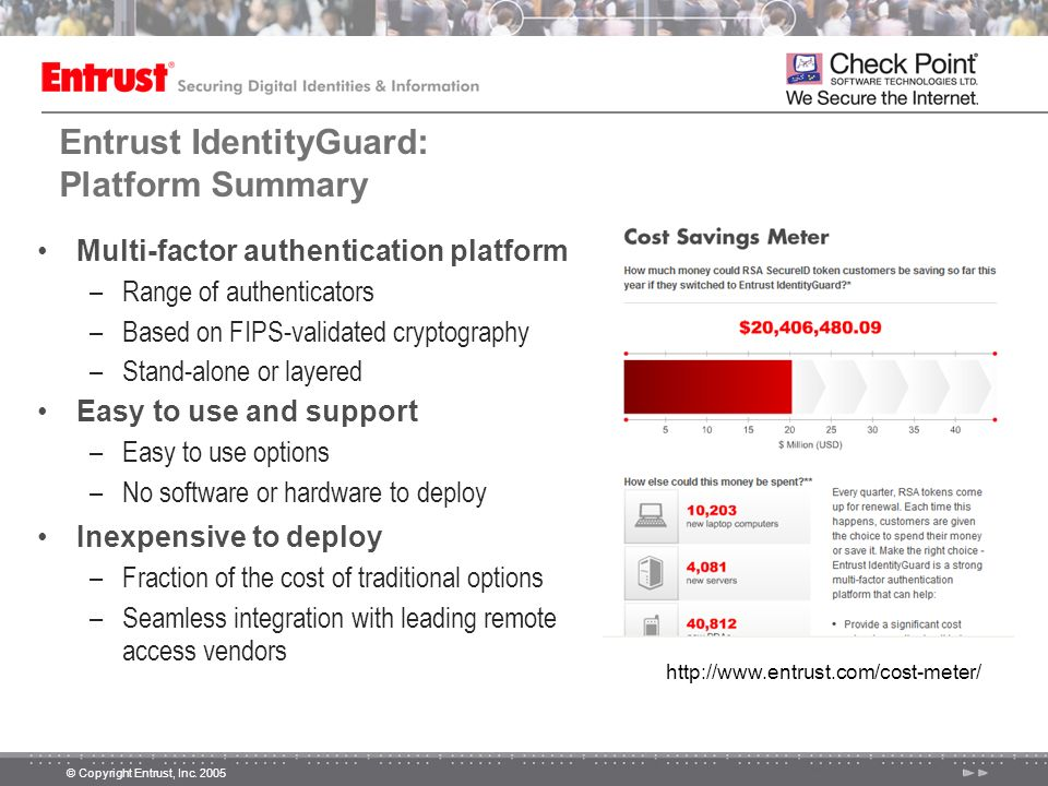 Entrust IdentityGuard: Platform Summary