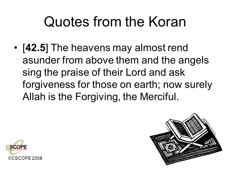 Quotes from the Koran