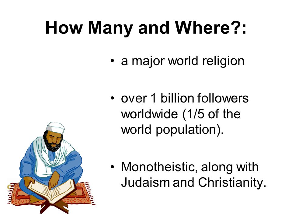 How Many and Where : a major world religion