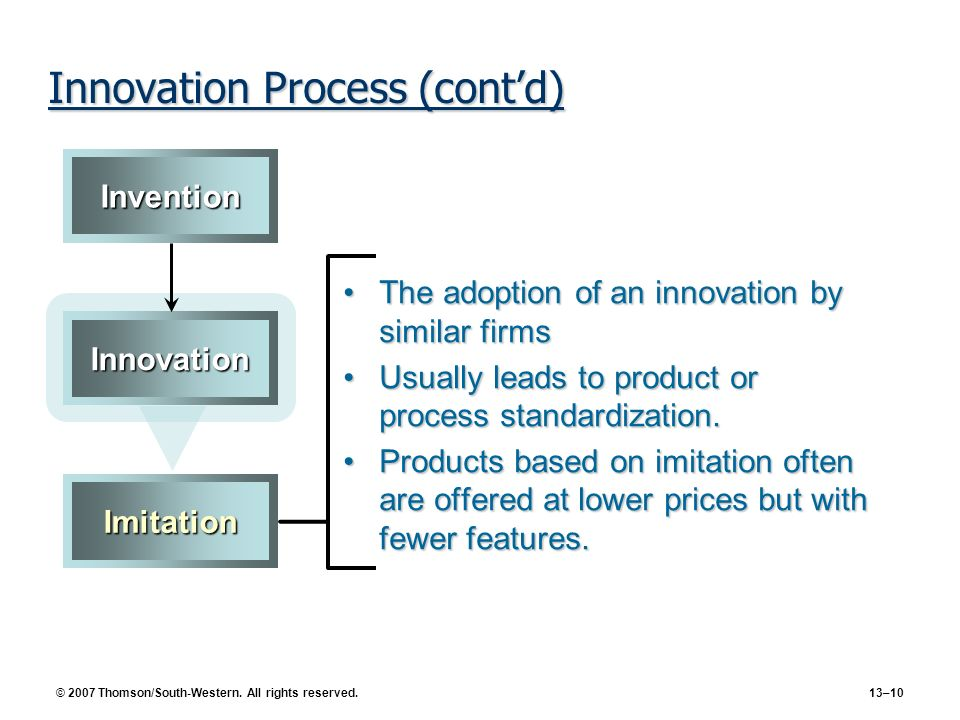 Innovation Process (cont'd)