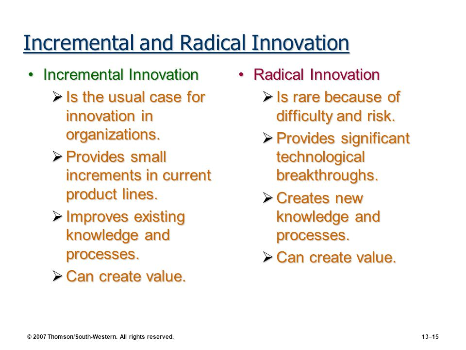 Incremental and Radical Innovation