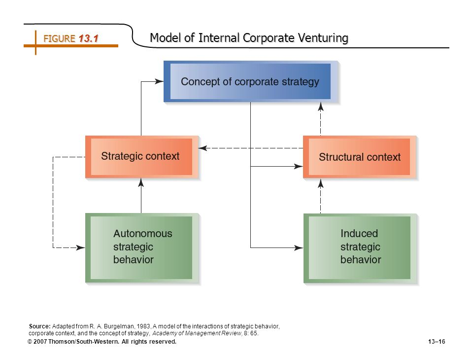 FIGURE 13.1 Model of Internal Corporate Venturing
