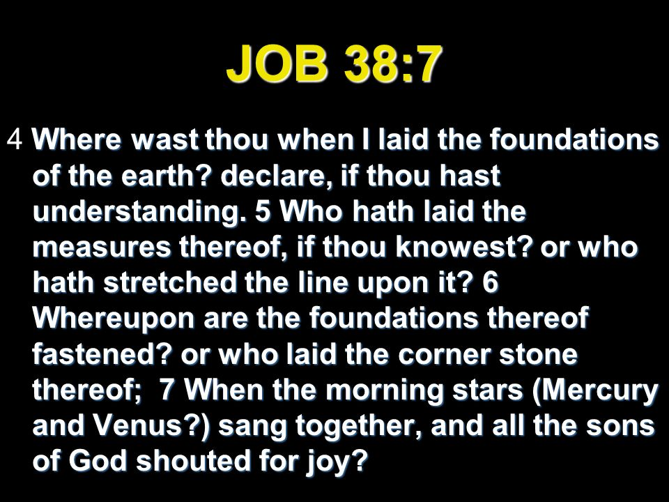 JOB 38:7
