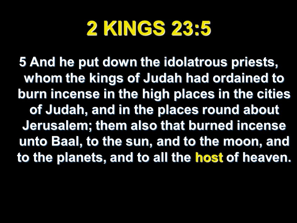 2 KINGS 23:5