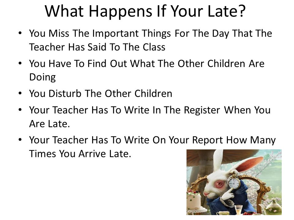 What Happens If Your Late