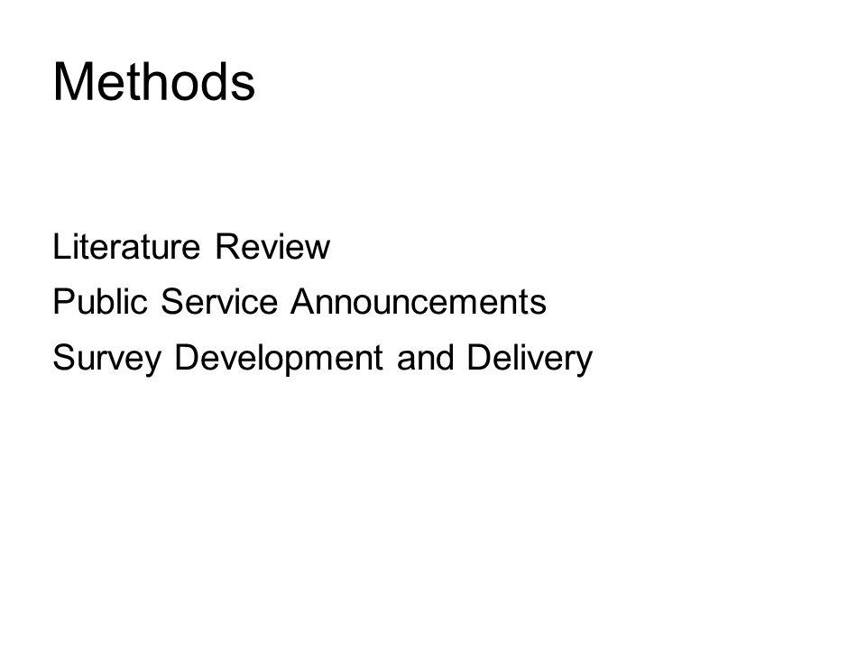 Methods Literature Review Public Service Announcements
