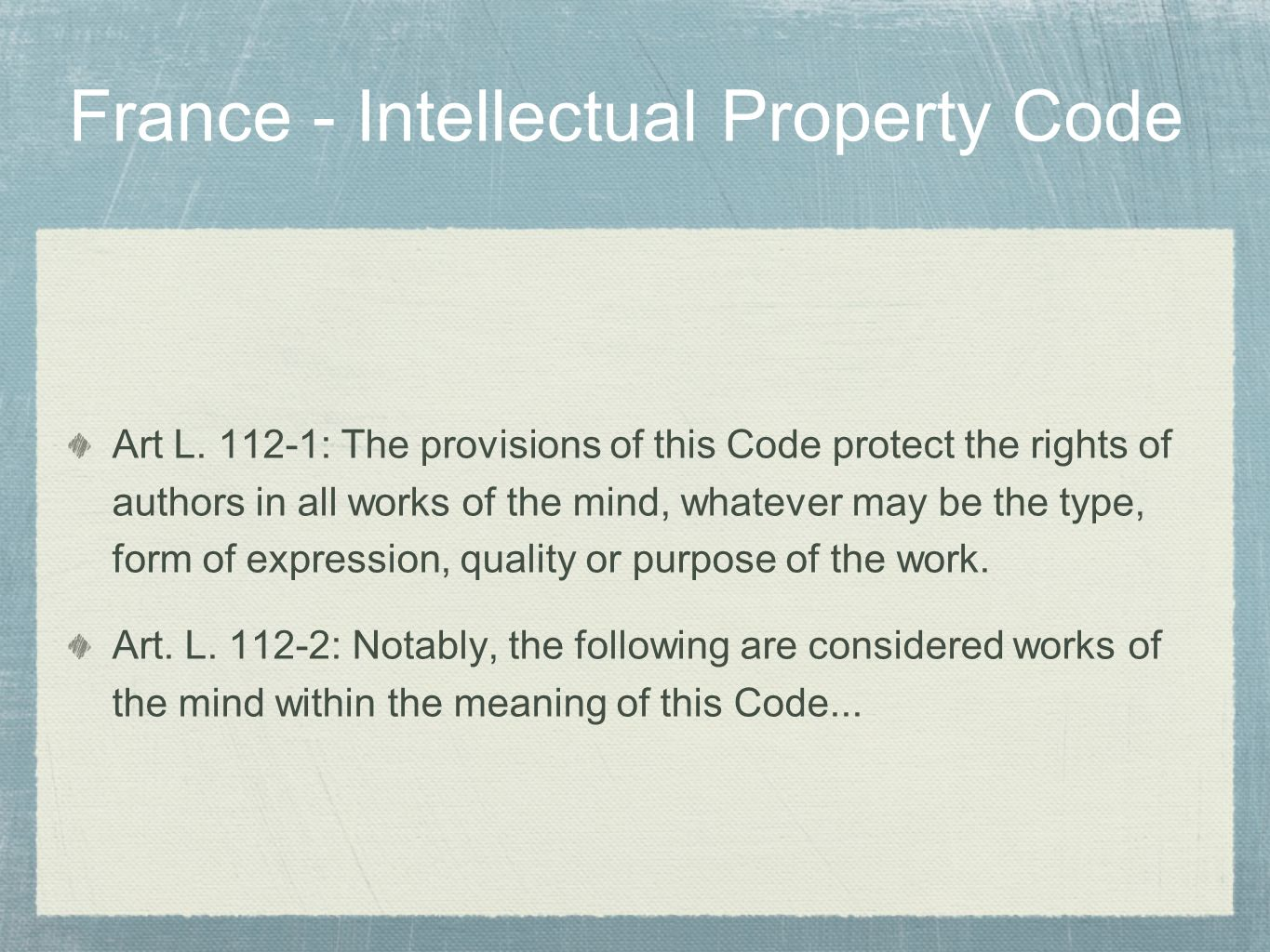 France - Intellectual Property Code