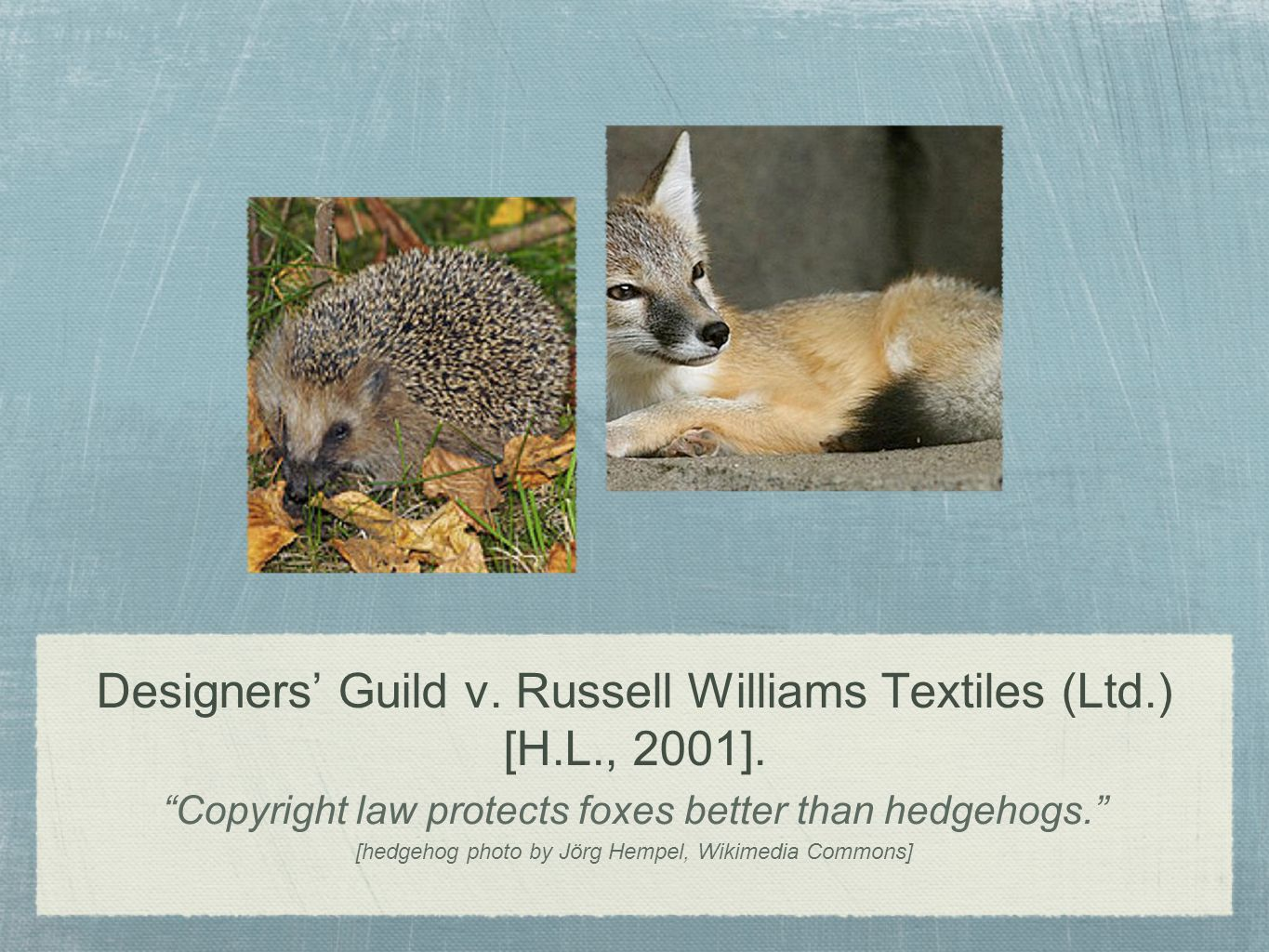 Designers' Guild v. Russell Williams Textiles (Ltd.) [H.L., 2001].