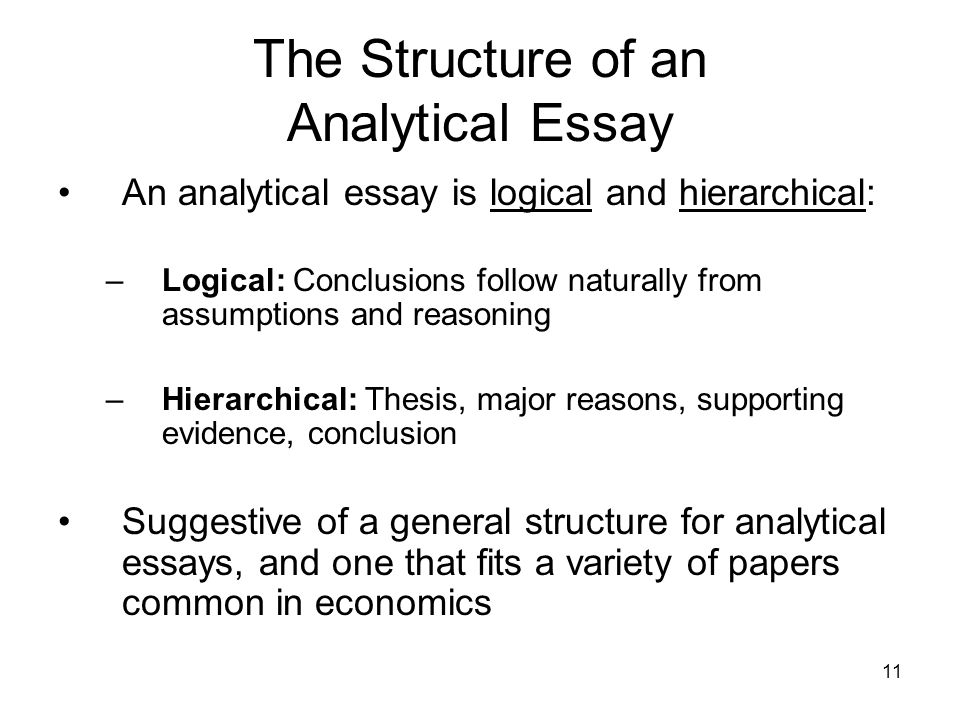High School Essay Writing The Structure Of An Analytical Essay English Essay Topics For College Students also Essay My Family English The Analytical Essay  Ppt Video Online Download Persuasive Essay Samples For High School