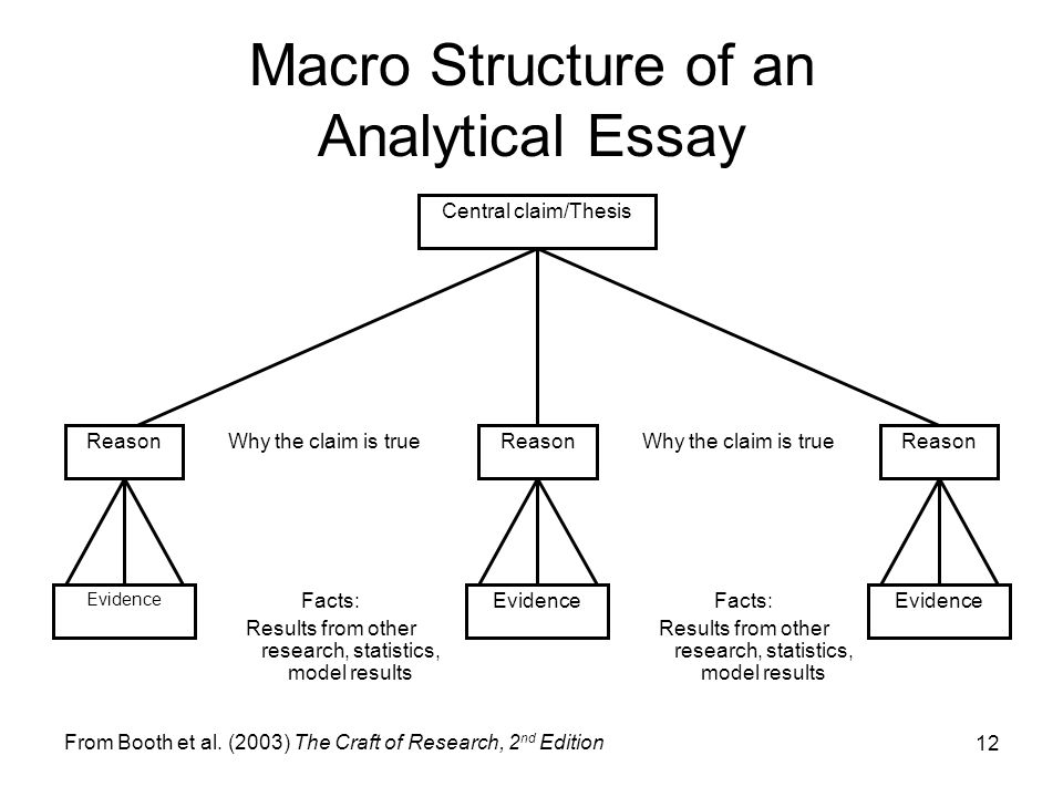 structure of research essay