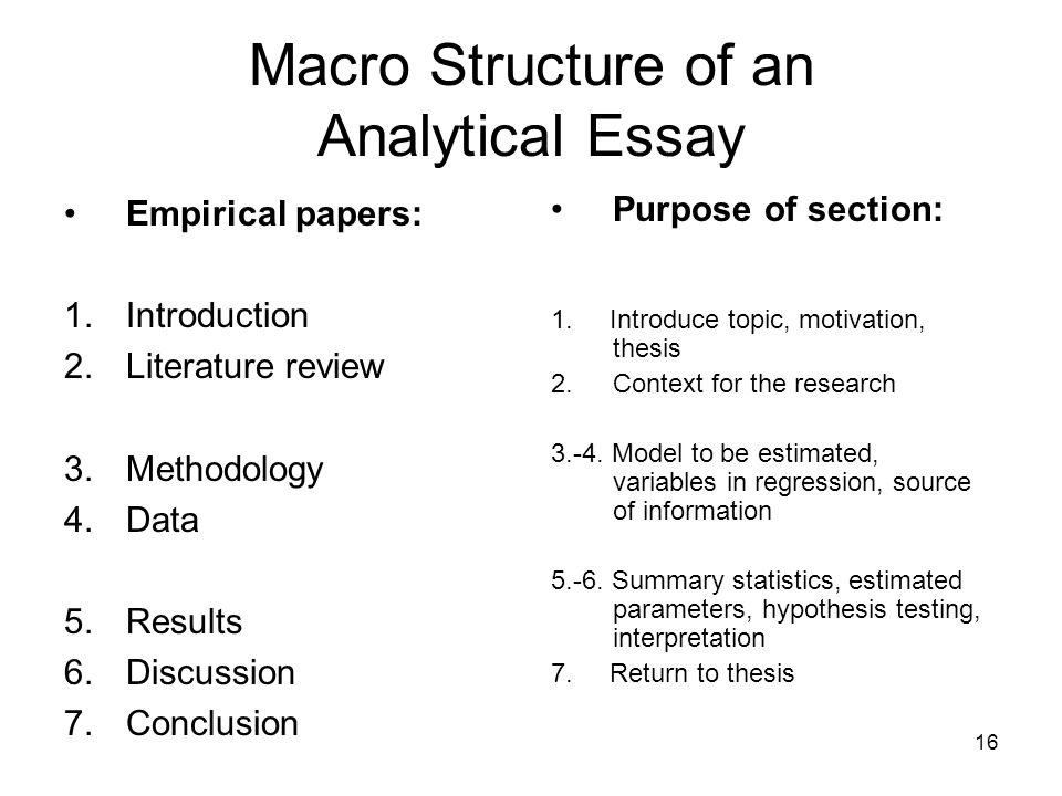 introduction analytical essay How to find an analytical essay introduction example all essays should have a proper structure, but when you're writing an analytical essay this is even more important if your information isn't laid out in a logical way the reader will quickly lose track of your arguments and won't be able to appreciate your conclusions.