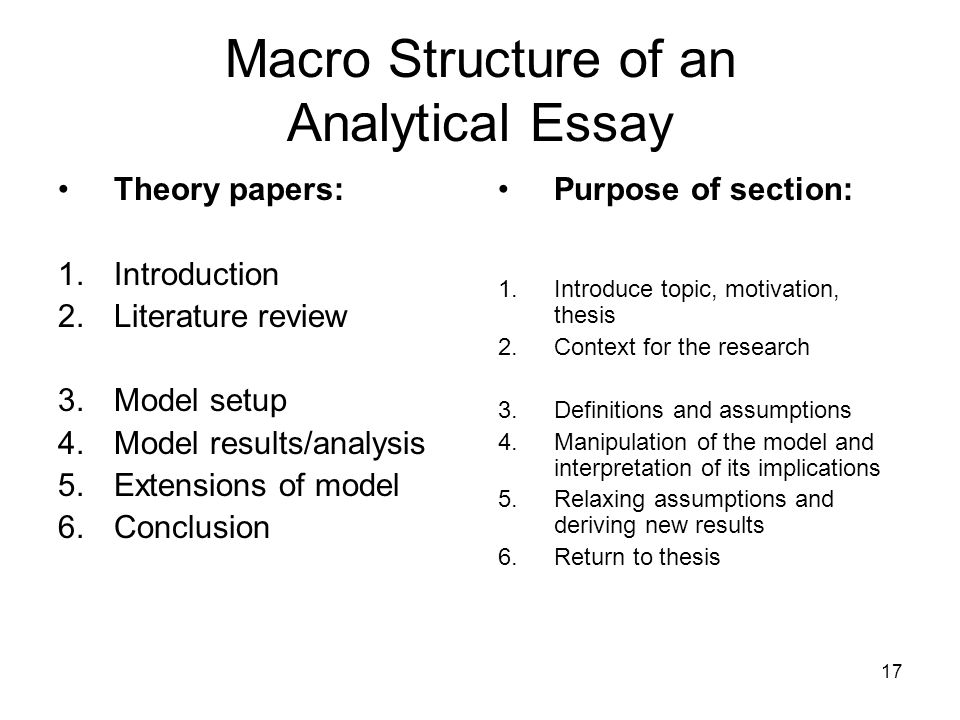research papers analytical purpose