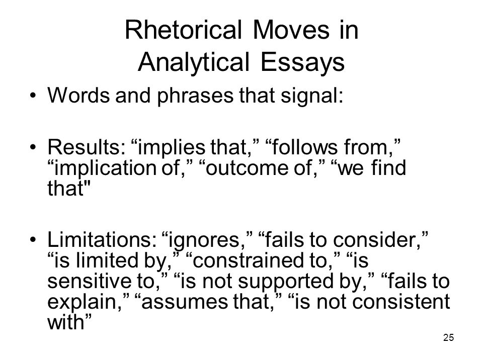 Analytical words for essays