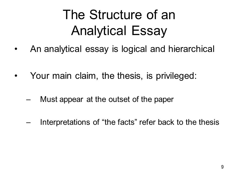 The Analytical Essay  Ppt Video Online Download The Structure Of An Analytical Essay