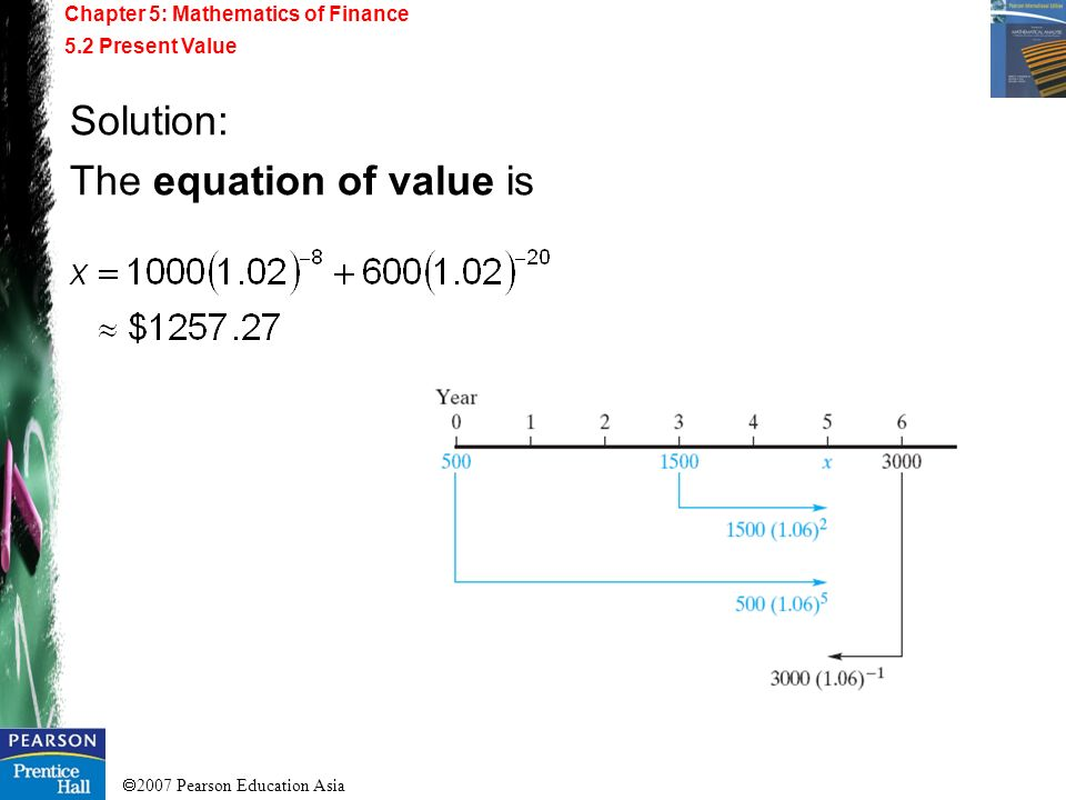 The equation of value is
