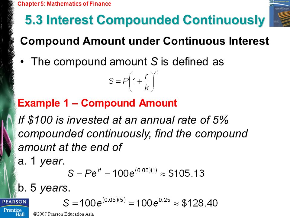 5.3 Interest Compounded Continuously