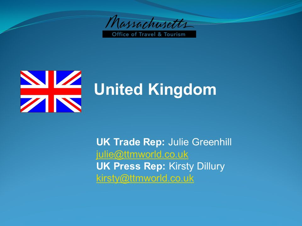 United Kingdom UK Trade Rep: Julie Greenhill julie@ttmworld.co.uk
