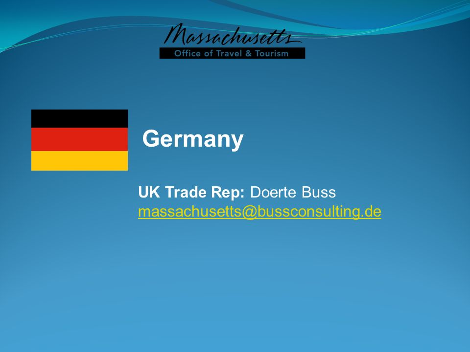 Germany UK Trade Rep: Doerte Buss massachusetts@bussconsulting.de