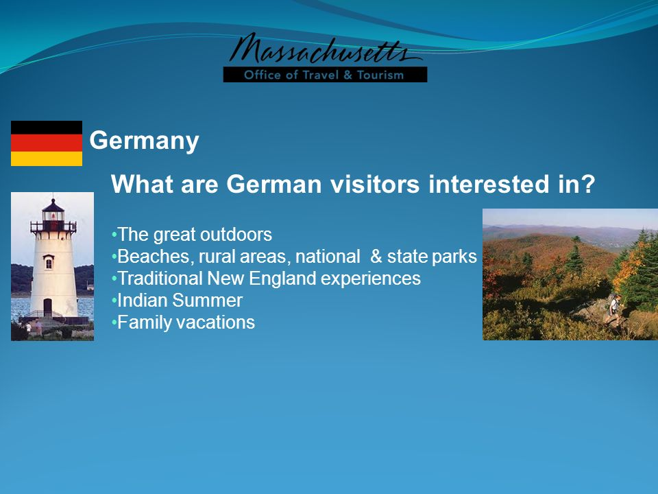 What are German visitors interested in