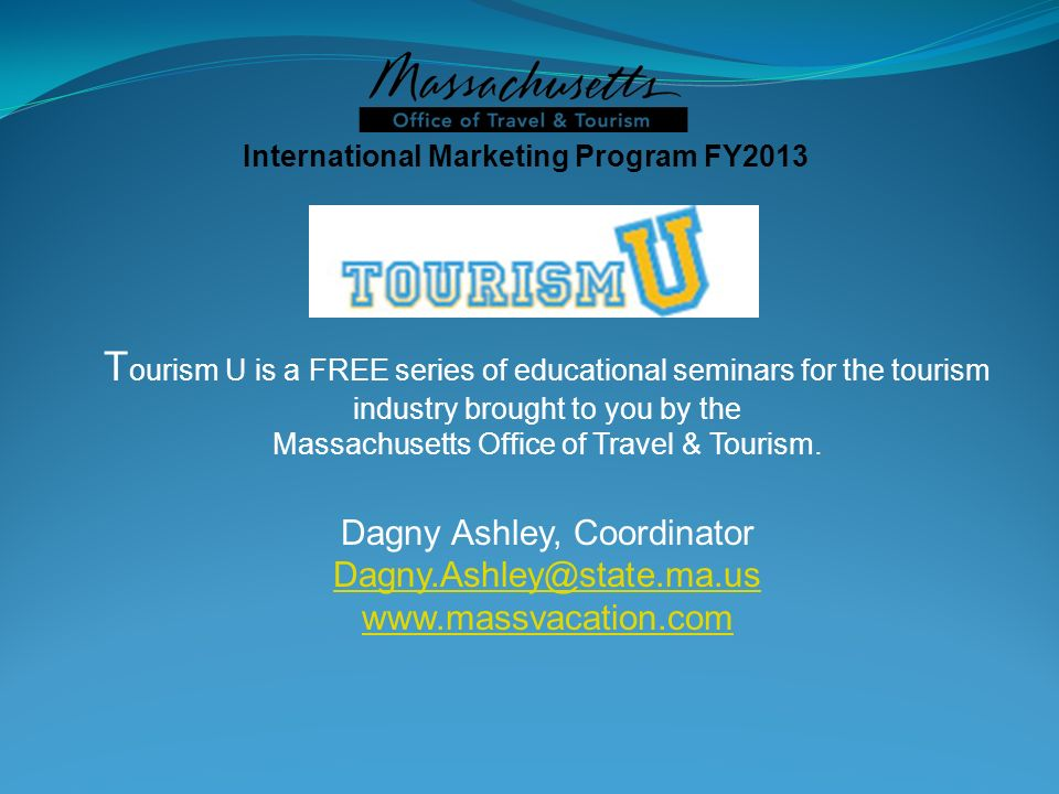International Marketing Program FY2013