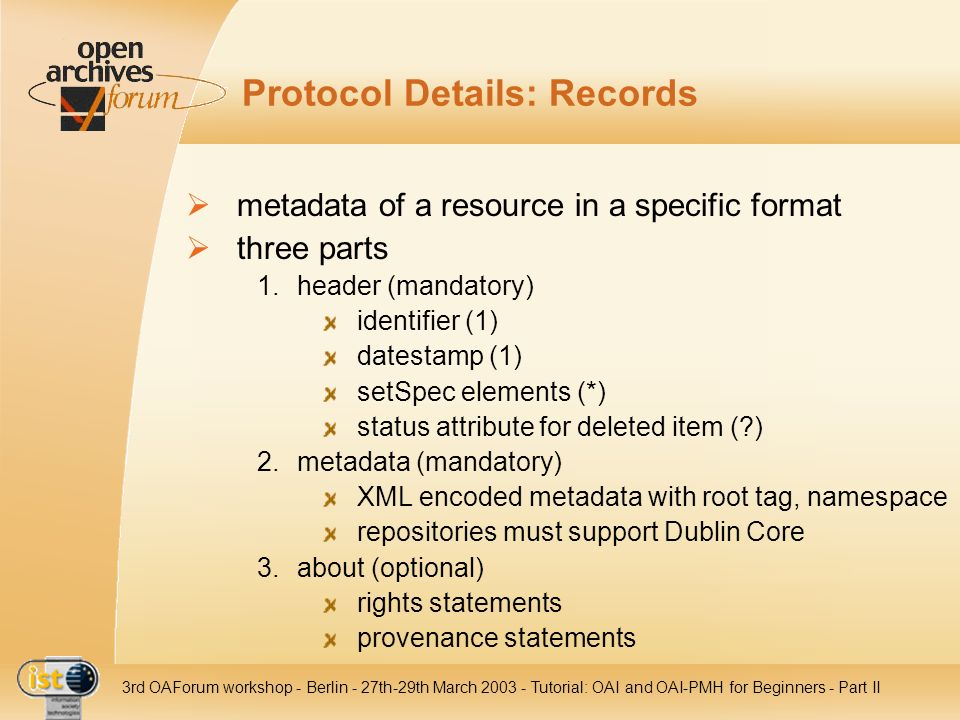 Protocol Details: Records