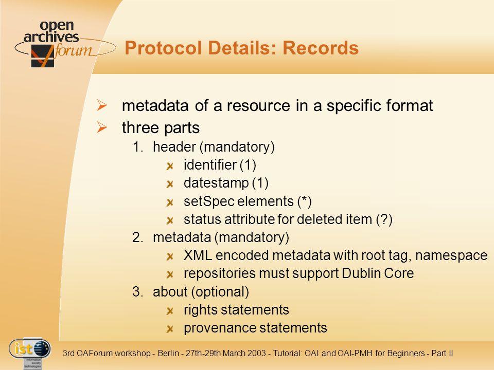 Protocol Details: Records