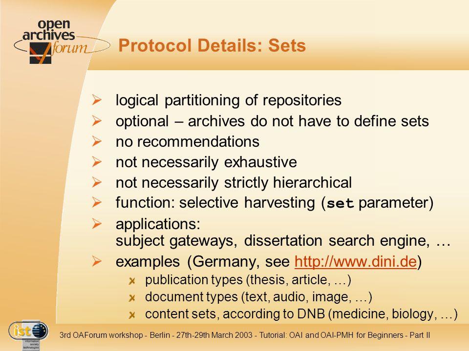 Protocol Details: Sets