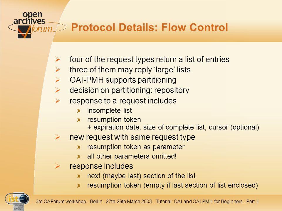 Protocol Details: Flow Control
