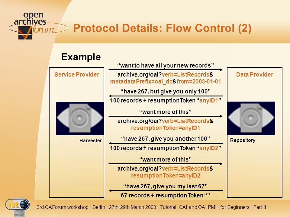 Protocol Details: Flow Control (2)