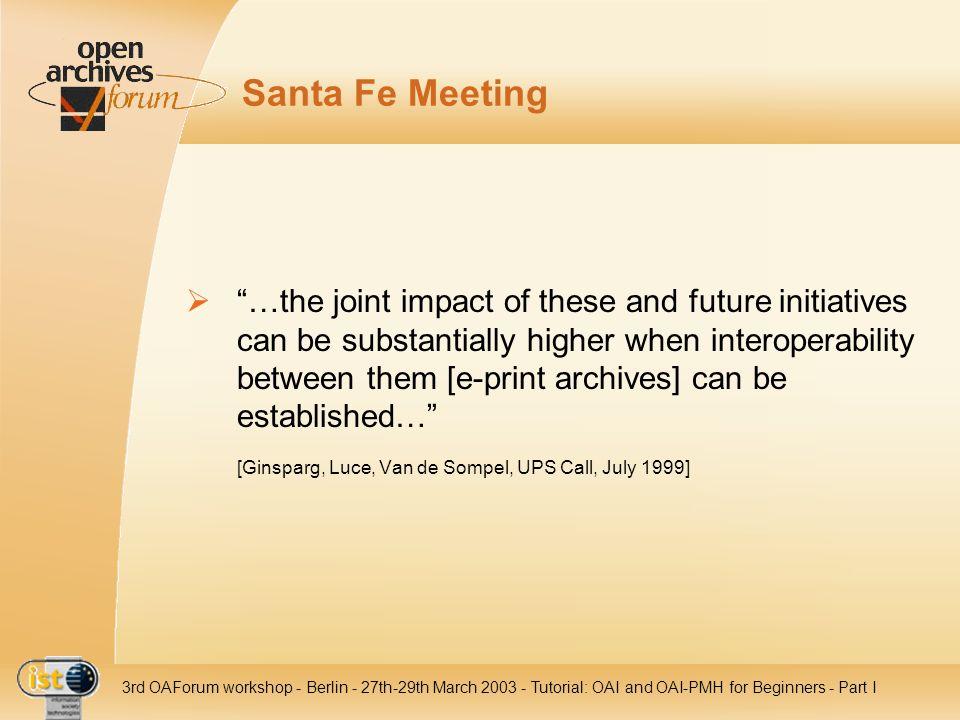 Santa Fe Meeting