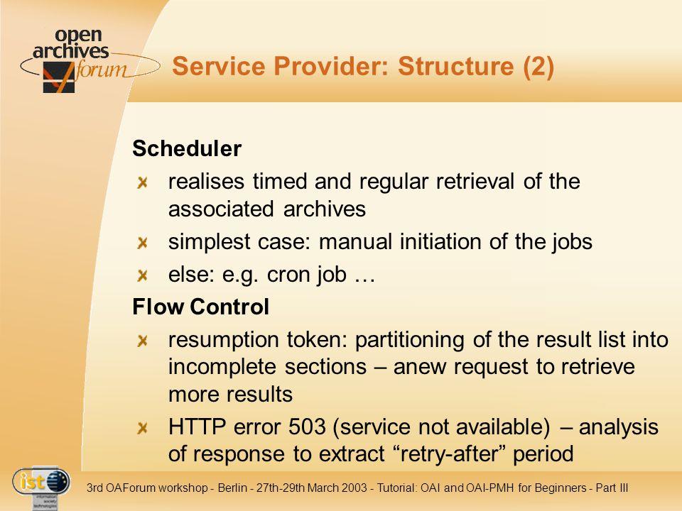 Service Provider: Structure (2)