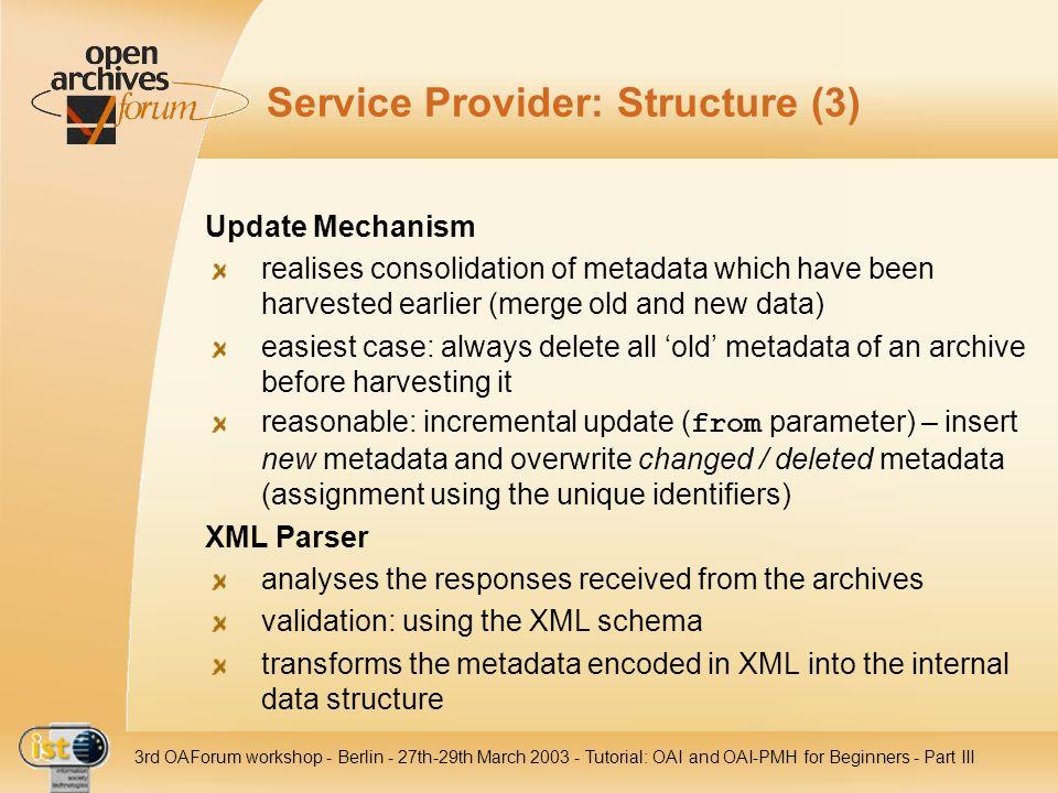Service Provider: Structure (3)