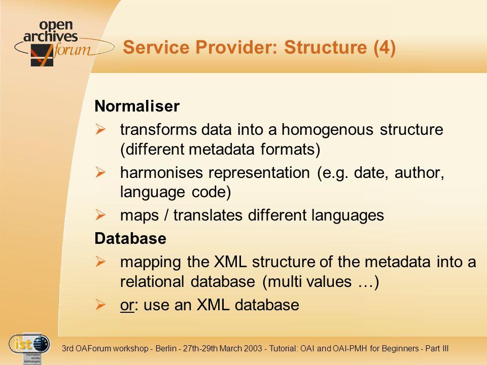 Service Provider: Structure (4)