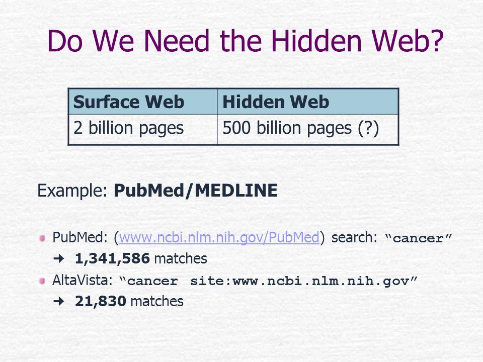 Do We Need the Hidden Web