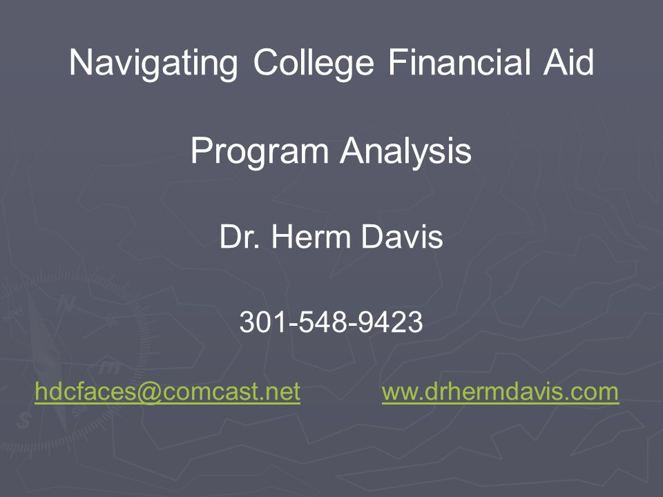 Navigating College Financial Aid