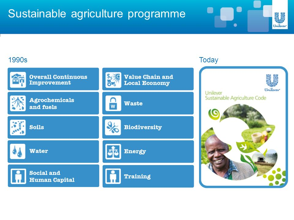 Sustainable agriculture programme