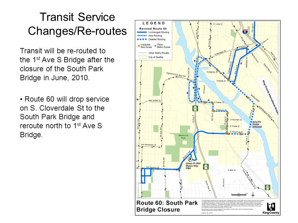 Transit Service Changes/Re-routes