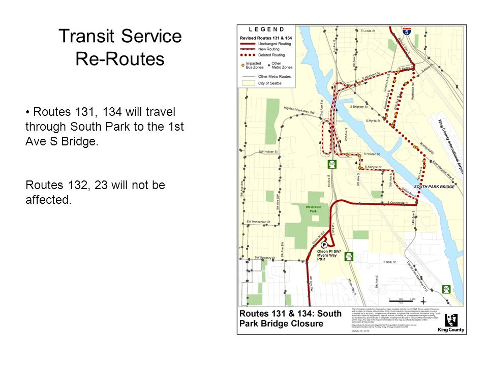 Transit Service Re-Routes